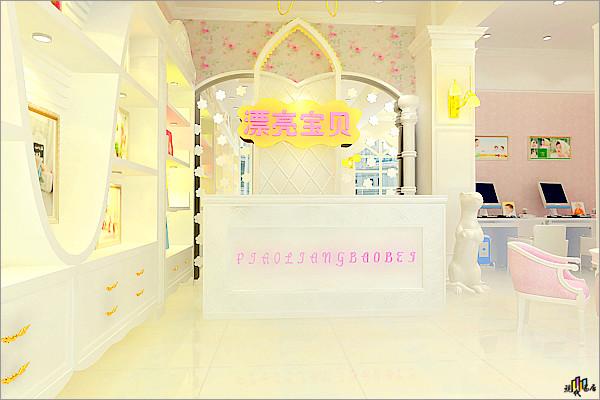 浪漫春天唯美设计 儿童摄影店铺欣赏 影楼装修 橱窗设计 橱窗设计展示