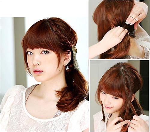 时尚伴娘发型:日系甜美编发