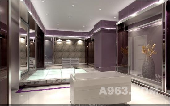 婚纱影楼设计点评 用深浅色搭配出空间层次感 影楼装修 橱窗设计 橱窗