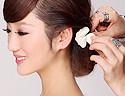 [步骤图解]简单婉约的新娘发型教程