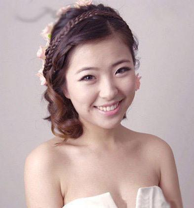 模特示范娘发型 新娘造型