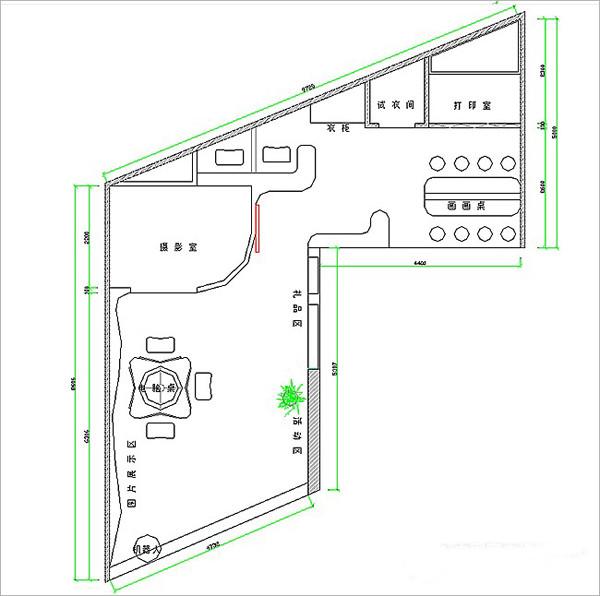 设计工作室工艺平面图_布局设计图摄影平面污水处理图片