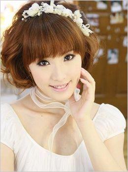 百变优雅短发新娘 创意短发造型更娇俏