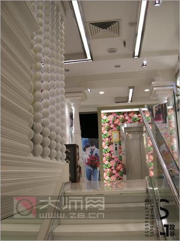 奢华影楼纯白欧式装修 用细节演绎现代光影