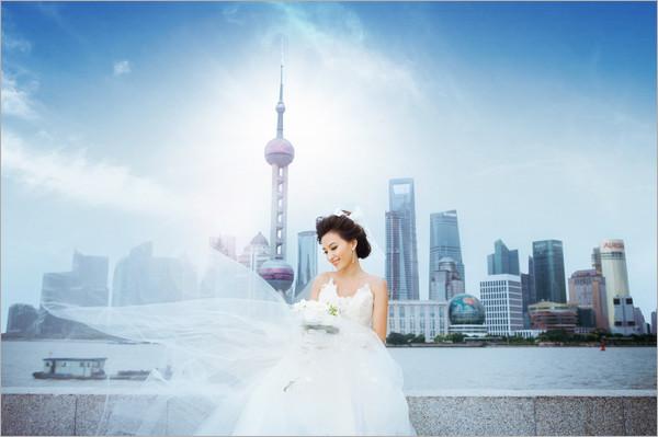 旅游婚紗外灘軼事 惦念曾經海上花戀 婚紗攝影圖片