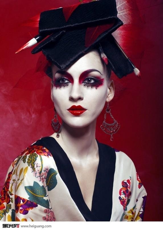 中国风(4)_化妆造型_黑光图库图片