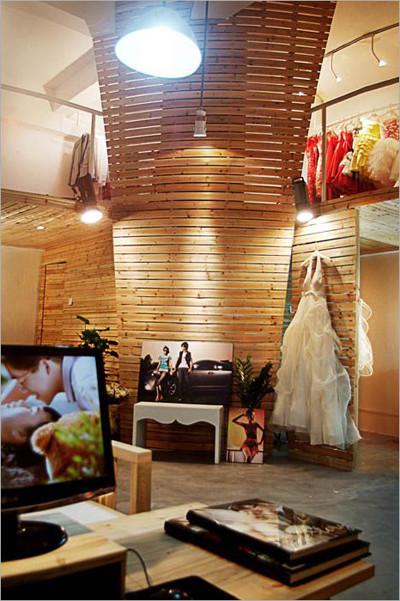 摄影工作室装修之原木色调 清新日式风格