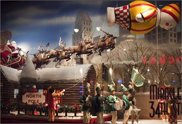 儿童影楼圣诞橱窗设计:梦幻童话世界图片