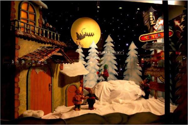 儿童影楼圣诞橱窗设计:梦幻童话世界(9)