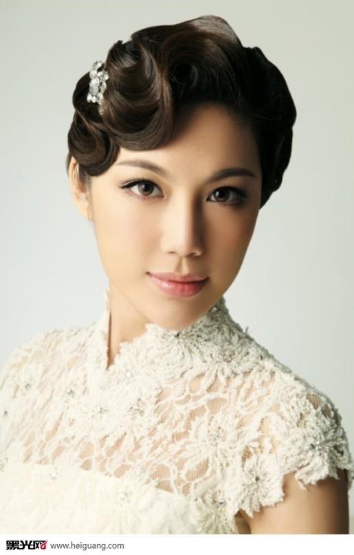 复古新娘化妆造型