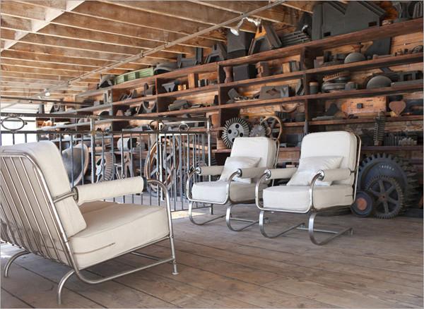 美国loft摄影师工作室装修 富有工业气息的质感混搭图片