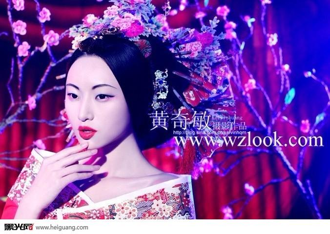 中国风(6)_化妆造型_黑光图库图片