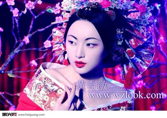 中国风(7)_化妆造型_黑光图库图片