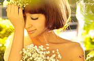 PS调出婚纱照片淡淡的鹅黄色唯美效果