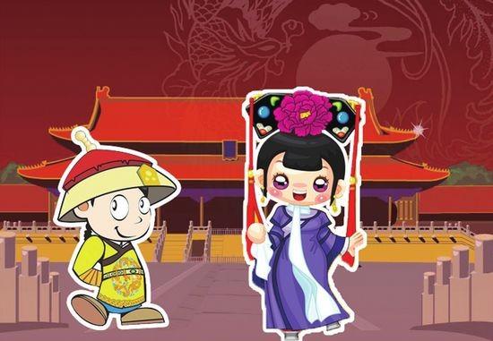 清宫卡通人物电脑壁纸