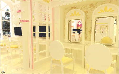 儿童摄影欧式纯白装修 演绎专属华丽风(4)_装修·橱窗