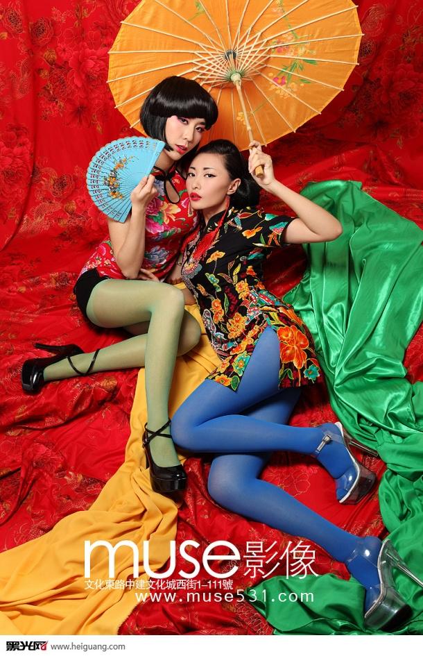 中国风(5)_化妆造型_黑光图库图片