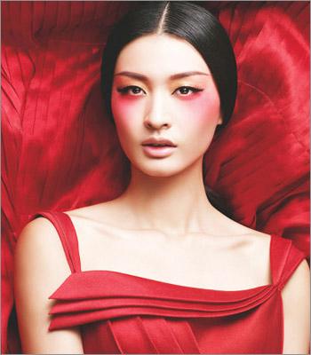 古代红妆女子手绘
