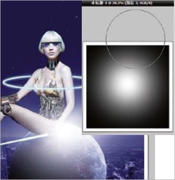 ps合成海报 打造美女科幻机器人(8)