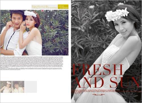婚纱排版纯背景素材