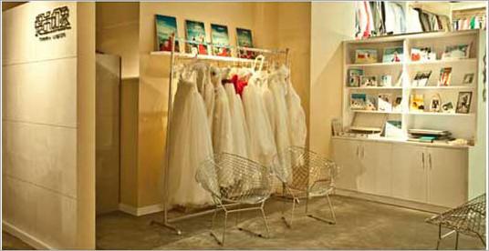 摄影工作室华丽loft装修 演绎独特清新花嫁