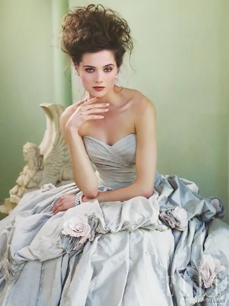 欧式优雅宫廷婚纱 婚纱礼服