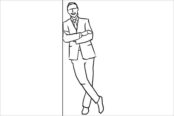 人体服装手绘男