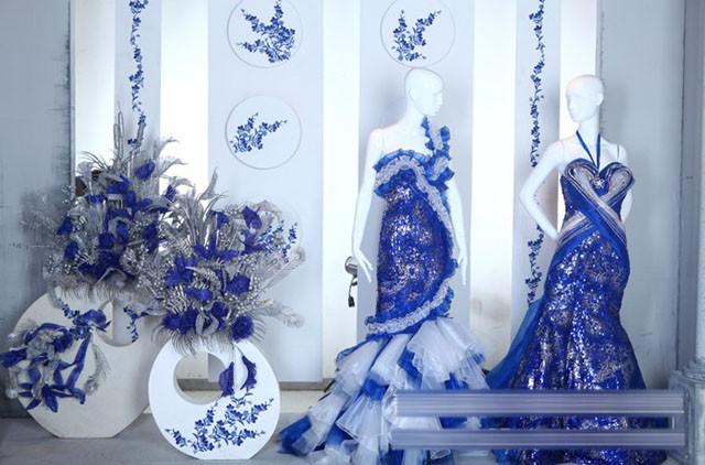 影楼橱窗设计:时尚新宠中国元素《青花瓷》