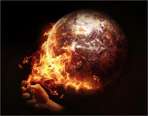 全球变暖 公益海报欣赏