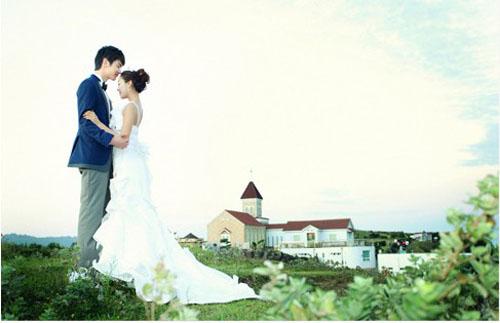 韩国旅游婚纱摄影济州岛天地源