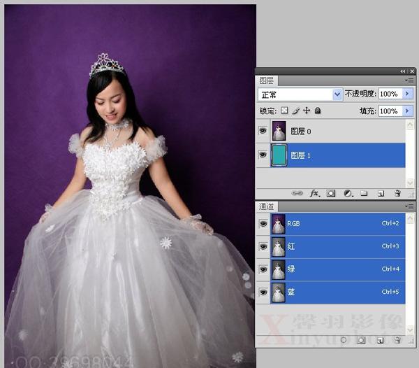 ps婚纱照教程:婚纱片合成梦幻森林蝴蝶仙子(3)