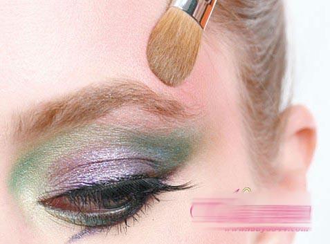 夏季缤纷彩虹色,小精灵眼妆教程图片