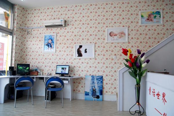 童话世界儿童影楼装修设计店内装修展示效果 一高清图片