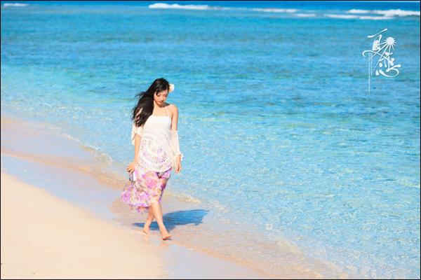 关岛海景摄影实战分享:蓝天碧海俏佳人