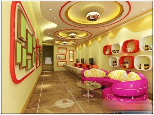 宝贝天使儿童影楼设计 暖色系的活泼格调
