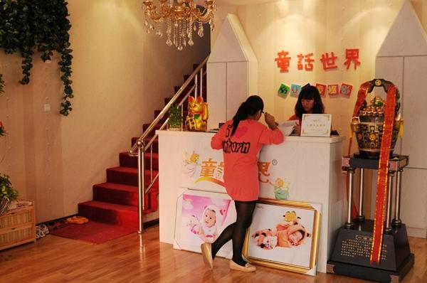 童話世界兒童影樓裝修設計店內裝修展示效果(三)
