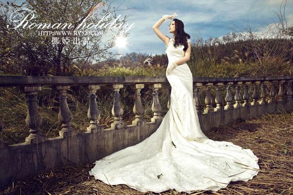 外景人像摄影教程:穿上婚纱去洛克庄园