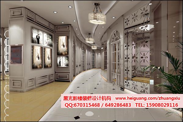 展示墙、陈列柜与内侧做了间隔,充分利用了每部分的空间.   高清图片