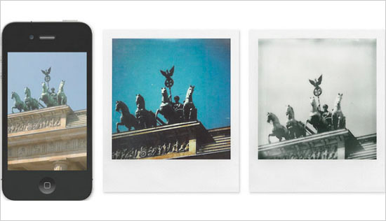 用拍立得相纸直接冲晒iphone照片