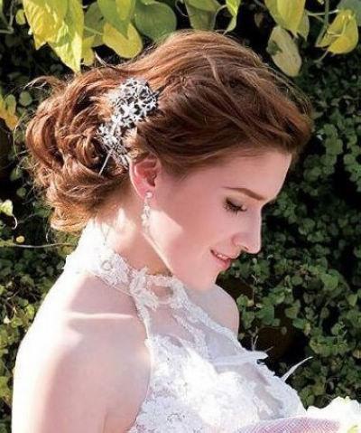 2012欧式浓情新娘盘发 新娘造型