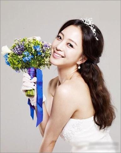 可爱甜美的韩国新娘发型