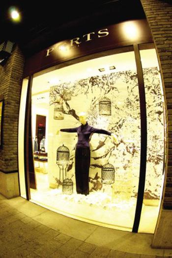 巴黎香榭,创意橱窗的时尚设计秀场图片
