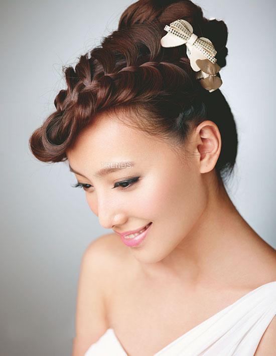 6款新娘发型提高妆容魅力图片