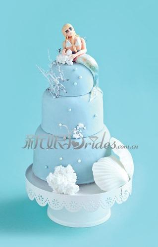 浪漫童真婚礼策划:海洋为灵感的婚礼蛋糕