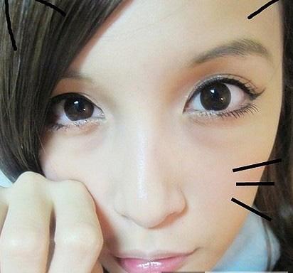 猫眼妆的画法教程 猫咪大眼画出来