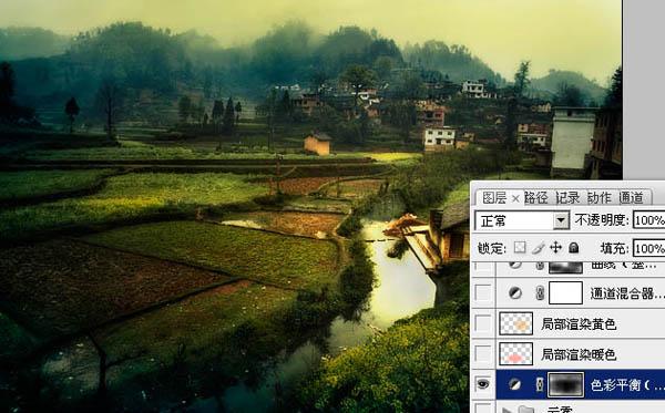 photoshop把田园风景转为唯美的油画教程