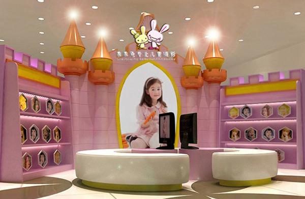 乖乖兔儿童影楼,店面装修设计实拍效果图