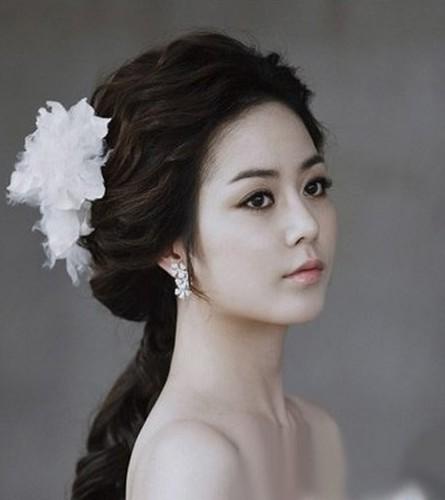 韩式新娘造型 尽显极致优雅_妆面赏析_影楼化妆_黑光