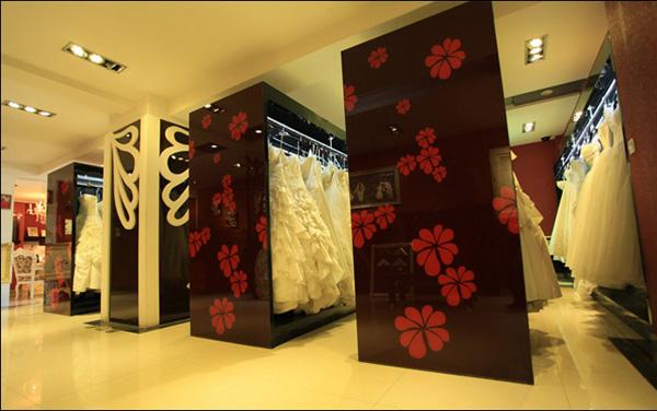今日印象婚纱摄影,影楼装修设计空间展示