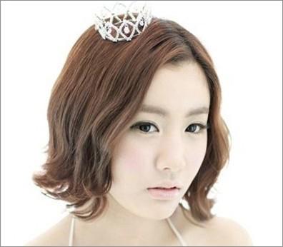 韩式短发新娘发型 打造清纯美人